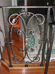 Custom Made Interior Wrought Iron Railings