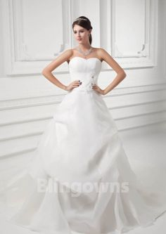 Sweetheart Lace Up Ruched Tulle Sleeveless Sweep Ball Gown White Wedding Dresses