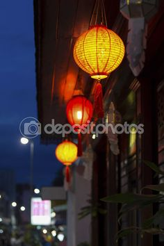 Chinese lanterns in downtown — Stock Image #62389815