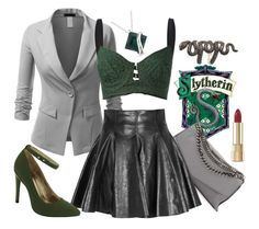 """Slytherin"" by lizamazoo ❤ liked on Polyvore"