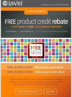 On the fence about trying thrive! This is a great time to stock up! #freecredits Special offer for first time customers!!!! Act fast, this is an amazing offer!!!! #thriveexperience #thrivewithme #2capsules1shake1patchdonefortheday #easyas123 #lifestyle #changesaregood #wakeupandthrive #healthy #getyourhappyback #investinyourself #youareworthit #healthylifestyle Live the life you deserve . abbytruglio.le-ve...
