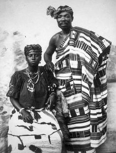 Africa | A chief and his wife. Dodowa, Ghana | Prior to 1917 || ©Historical photographs from Basel Mission. Photographer unknown