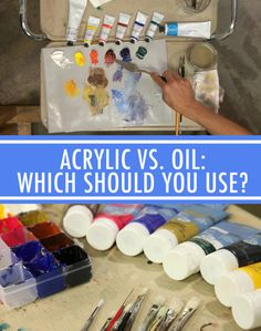 Which paint is the right choice for you? This post details the differences in oil vs. acrylic paint so you can make an educated decision. On Craftsy!