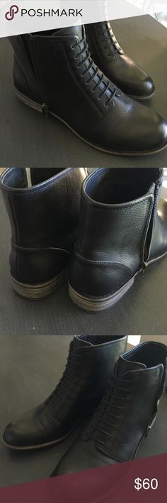 Splendid Black Leather Boots Black leather boots. Excellent used condition. Worn only once. Cleaning out my closet. They are like new! Splendid Shoes Ankle Boots & Booties