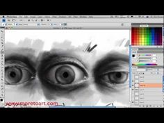 How To Draw Realistic Eyes In Photoshop, Beginer Tutorial - YouTube