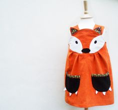 Fox Dress - Little girls character play dress 6m to 6y. $60.00, via Etsy.