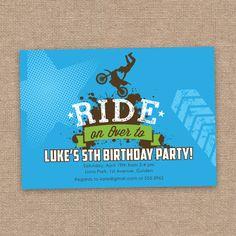 Dirt Bike Motocross Birthday Invitation without by jessicasinvites