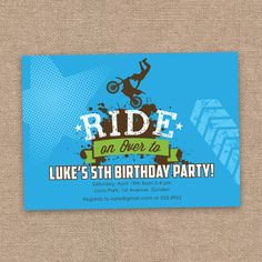 Dirt Bike Motocross Birthday Invitation without by jessicasinvites
