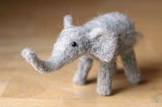 Cute little felt elephant from Blueberrie on Etsy. It sold, but she has other cute critters.