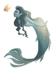 mermaid ✤ || CHARACTER DESIGN REFERENCES | キャラクターデザイン • Find more at https://www.facebook.com/CharacterDesignReferences