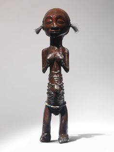 Luba Female Power Figure, Democratic Republic of the Congo - Height: 12½ in (31.5 cm)