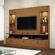 Estante Home Theater Para TV até 55 Pol. - Ashtyn Wilderman I - Hometheaters Tv Cabinet Design, Home, Living Room Tv, Living Room Tv Unit Designs, Modern Tv Wall Units, Tv Wall Decor, Furniture, Living Room Designs, Tv Room Design