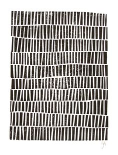 LINOCUT PRINT geometric pattern black block print 8x10 mid