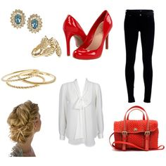 Splash of Red, created by eritter on Polyvore