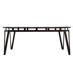 Walter Lamb Outdoor dining Table | From a unique collection of antique and modern garden furniture at http://www.1stdibs.com/furniture/building-garden/garden-furniture/