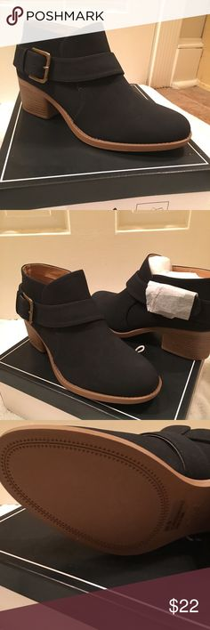 Quipid Ankle Booties, BNWT, Black with buckle Quipid ankle booties, size 9, black, BNWT, brass buckle detail, block heal appropriately 2 inches high.  Faux suede. I ordered 2 because I was not sure what color would be best.  I can say they are super comfortable! Wore them all day.  ❤️  love the cross strap detail too.  Got many compliments. 👠👡👢 Shoes Ankle Boots & Booties