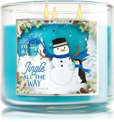 Jingle All the Way Candle - Bath Body Works; Make spirits bright with this merry blend of mandarins, apples & coconut cream Bath Candles, Home Candles, 3 Wick Candles, Scented Candles, Candle Jars, Bath N Body, Perfume, Christmas Time, Holiday