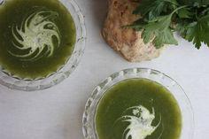 #Selleriegrün #Suppe #sellerie #soup #gemüse #lecker