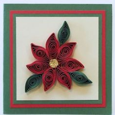 How to combine basic quilling shapes to make simple designs - Christmas Poinsettia.