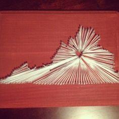 State String Art - Virginia - $25