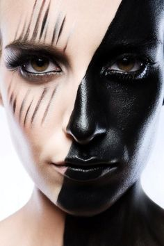 two face black makeup
