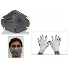 3M Combo Of Anti Pollution Face Mask + Accedre Summer Bike Riding Gloves, 28250