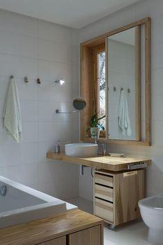 Mosdópult tolóablak alatt - fürdő / WC ötletek