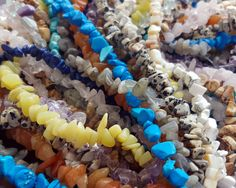 Up close and personal with some gemstone chips. Have you made anything with these beads? Let us know in the comments!  You can buy these on our website here: