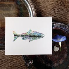Salmon Season. Watercolor Original Painting. Pacific Northwest 8x10 Fine Art. by SaylorMade on Etsy https://www.etsy.com/ca/listing/477537587/salmon-season-watercolor-original