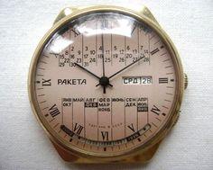 Soviet watch Vintage gilded Watch Russian watch by SovietWatches