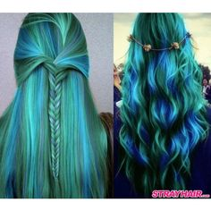 Amazing Aurora Borealis Hair Color ❤ liked on Polyvore featuring beauty products, haircare, hair color and hair