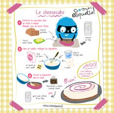 Cheesecake recipe - Discover all our recipe workshops for kitchens with children. Easy and educational, free to downloa - Drink Recipe Book, Cheese Packaging, Best Cheese, Baking With Kids, Cheese Platters, Desert Recipes, Easy Cooking, Easy Desserts, Kids Meals