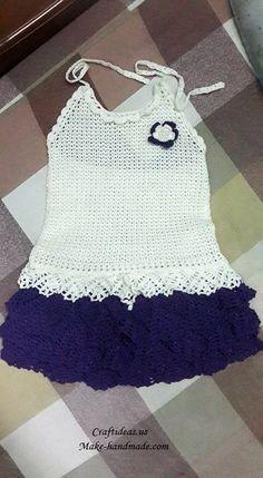 Crochet cute baby top dress