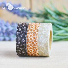 Pack de 3 washi tape de masté en www.miamandarina.es