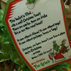 Grinch gift Christmas Cookies, Christmas Crafts, Xmas, Christmas Information, Grinch Stole Christmas, Girl Scouts, Merry, Holiday Ideas, December