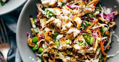 Cashew Crunch Salad with Sesame Dressing - this is the healthy summer recipe that makes me ACTUALLY WANT TO EAT A SALAD....