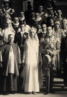 Rome Royal Wedding Prince Umberto Savoia Maria José Original Photo 1930 L1…