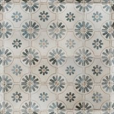 EliteTile Royalty Daisy x Ceramic Field Tile Color: White/Blue Stone Look Tile, Stone Tiles, Tiles Texture, Color Tile, Wall Patterns, Vintage Industrial, Industrial Design, Floral Motif, Wall Tiles