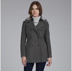 Womens dark grey coat from Laura Ashley - £135 at ClothingByColour.com