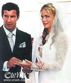 Luis Figo & Wife