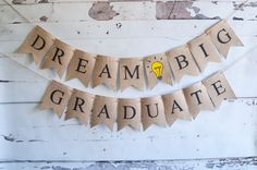 Graduation Party Decor Class of 2017 banners by SwankyBurlap