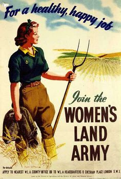 Poster for the Women's Land Army - usually referred to as 'Land Girls' Why Were They Called Land Girls?The Land Girls when known by their official name were called the WLA (Women's Land Army) but they. Vintage Advertisements, Vintage Ads, Vintage Posters, Retro Ads, Vintage Humor, Vintage Labels, Vintage Style, Pin Up, Penguin Books