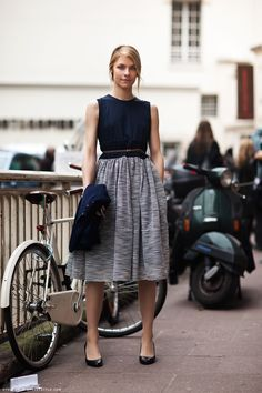 midi skirts, full skirts, fashion, blue, dress, long skirts, street styles, grey, work outfits