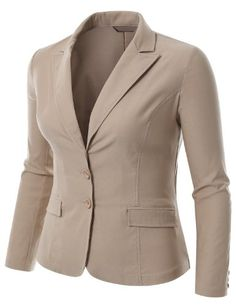 Womens Khaki Tailored Blazer - love this - too bad they're out of ...