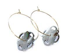 Earrings - Gold & Grey - Petra Reijrink