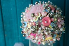 Tamara Harrison button bouquet