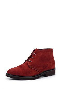 Ботинки Doucal's мужские. Цвет: красный. Материал: натуральная замша. Сезон: Осень-зима 2013/2014. С бесплатной доставкой и примеркой на Lamoda. http://j.mp/1nEqJiH