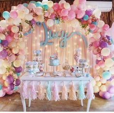 Pretty Pastel Balloon Arch
