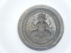 Vintage Brass Stamp Ganesha Die Mold Jewellery Tool Metal Smith God India #830