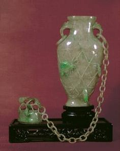 Jade vase and cover featured in my article  'Chains Carved Out of a Single Piece of Jade Rock', John Neville Cohen